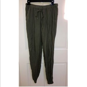Abercrombie & Fitch Olive Green Jogger Pants w/Tie
